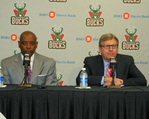 Former coach Larry Drew and GM John Hammond