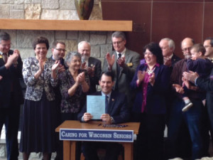 Gov. Scott Walker signed legislation in April creating the Silver Alert system. (Photo: DOJ)