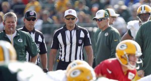 Ed Hochuli oversees action at Training Camp / Photo: Courtesy of Packers.com