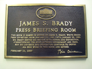 James S. Brady Press Briefing Room Plaque