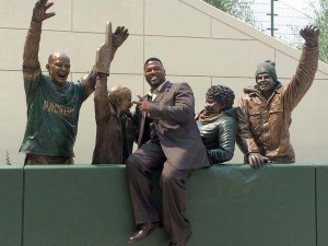 Leroy Butler takes one more Lambeau Leap