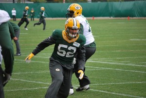 Clay Matthews works out on Wednesday.