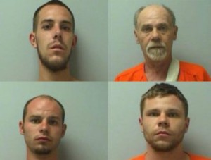From left to right: Jacob Gould, Jerald Gould, Jeremy Gould, Jerrod Gould (Marathon County Sheriffs Department)
