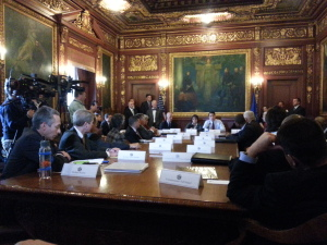 Governor Walker meets with his cabinet (Photo: WRN)