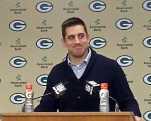 Aaron Rodgers following the Packers 30-20 win over the Lions
