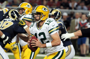 Aaron Rodgers - UPI/Robert Cornforth