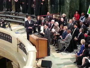 Governor Walker reads MLK proclamation (PHOTO: Andrew Beckett)