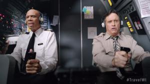 Kareem Abdul-Jabbar and Robert Hays star in a Wisconsin tourism ad. (Photo: Travel WI)