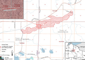 A map showing the potential location of a mine. (Photo: DNR)
