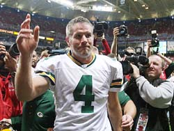 Brett Favre - Photo/Bill Greenblatt UPI
