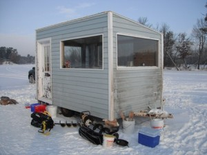 Ice shanty (PHOTO: Wisconsin DNR)