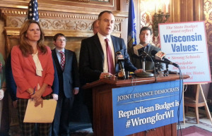 Assembly Democrats call for budget changes (Photo: Andrew Beckett)