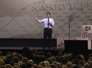 Gov. Scott Walker addresses an NRA convention in Tennessee.