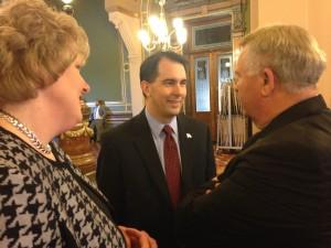 Governor Scott Walker in Iowa (PHOTO: Radio Iowa)
