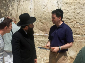 Gov. Scott Walker in Israel (Photo: @ScottWalker Twitter feed)