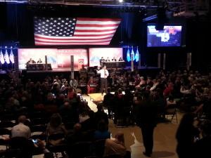 Gov. Scott Walker addresses convention delegates (Photo: Andrew Beckett)