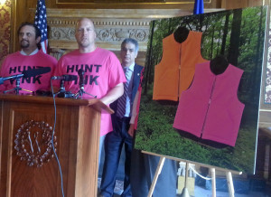 Proposed legislation would allow hunters to wear blaze orange or pink. (Photo: Andrew Beckett)