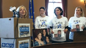 Members of Save IRIS at the Wisconsin Capitol