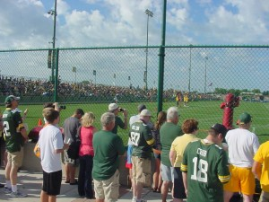 Packer fans watching today's OTA workout!