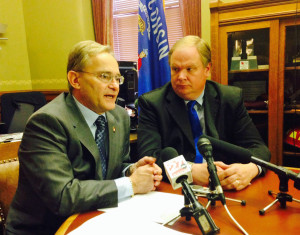 Rep. Peter Barca & Rep. Andy Jorgenson WRN photo
