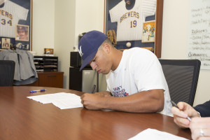 Trent Clark signs his pro contract!