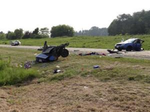 Crash scene (Photo: Dodge Co. Sheriff)