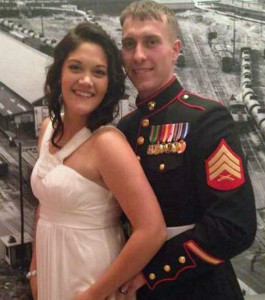 Sgt. Carson Holmquist and his wife (Photo: Facebook)