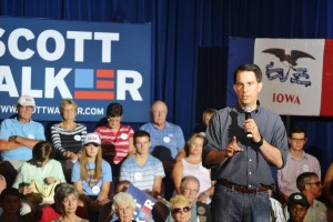 Gov. Scott Walker in Iowa (Photo: Asya Akca)