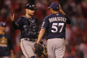 Francisco Rodriguez earns his 24th save. Photo by Bill Greenblatt/UPI