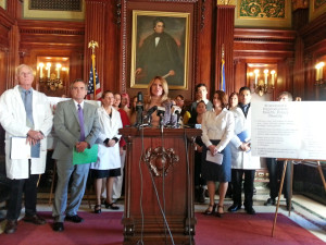 Democrats unveil their Patients Reproductive Health Care Act at the Capitol. (Photo: WRN)