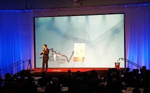 Gov. Scott Walker speaks at a WMC event in Madison. (Photo: Andrew Beckett)