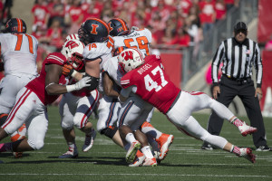 Wisconsin Badgers linebacker Vince Biegel (47)  (Photo by David Stluka)