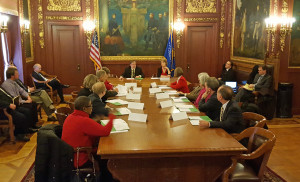 A bipartisan panel meets to approve Wisconsin's presidential primary ballot. (Photo: Andrew Beckett)