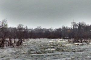 Flooding along the Wisconsin River at Biron (Photo: Wisconsin Emergency Management)