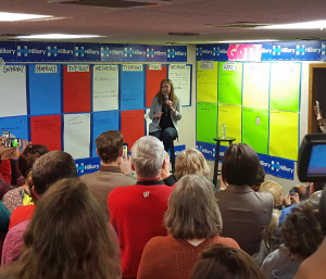 Chelsea Clinton at a campaign office in Madison. (Photo: WRN)