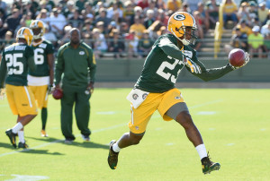 Jul 30, 2015; Green Bay, WI, USA;  Green Bay Packers cornerback Damarious Randall: Photo Courtesy of Benny Sieu-USA TODAY Sports