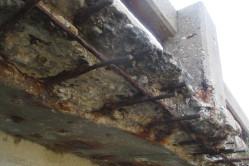 Exposed rebar on a bridge in Waukesha County. (Photo: TDA)