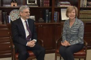 Judge Merrick Garland and Sen. Tammy Baldwin (D-WI)