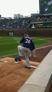 Taylor Jungmann warms up in Chicago