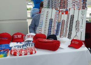 Trump gear for sale at the RPW convention (Photo: Andrew Beckett)