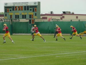 Packers add to their quarterback mix as OTA's continue.