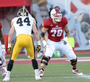 Jason Spriggs (78)signs his first pro contract with the Packers - Photo Courtesy of Indiana University Athletics