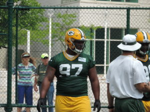 Kenny Clark at this week's mandatory minicamp