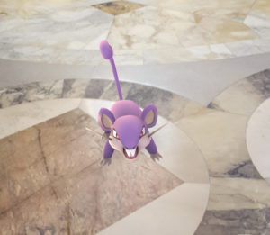 A Pokémon in the Wisconsin Capitol rotunda. (Photo: Andrew Beckett)