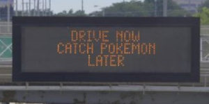 A DOT highway information sign displays a warning to drivers. (Photo: WisDOT)