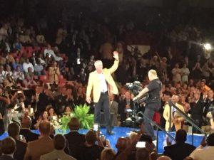 Brett Favre receives Hall of Fame Jacket / Photo: Thanks to Lance Allen-WTMJ-TV