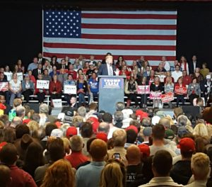 Donald Trump rallies with supporters in Waukesha (Photo: Andrew Beckett)