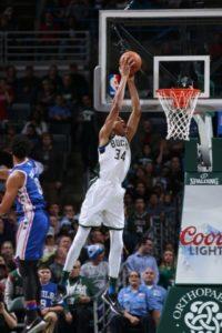 Giannis Antetokounmpo / Photo Courtesy of the Milwaukee Bucks
