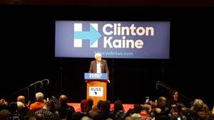 Senator Bernie Sanders (I-VT) attends a rally in Madison. (Photo: Andrew Beckett)