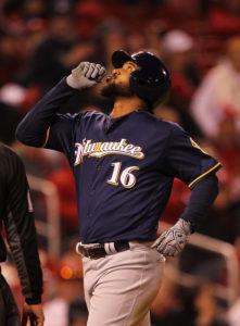 Domingo Santana - Photo by Bill Greenblatt/UPI